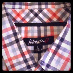 Red,White & Blue Johnnie - O SL Shirt NWOT
